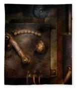 Steampunk - The Control Room  Fleece Blanket