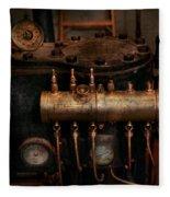 Steampunk - Plumbing - The Valve Matrix Fleece Blanket