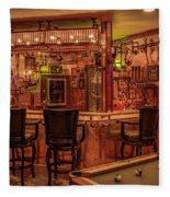 Steampunk Speakeasy Mancave Bar Art Fleece Blanket