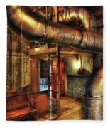 Steampunk - Where The Pipes Go Fleece Blanket