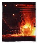 Steel Mill--china Fleece Blanket