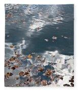 Steel Sky On Lake Fleece Blanket