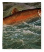 Steelhead Trout Fish No.143 Fleece Blanket