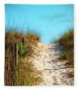 Steep Beach Path Fleece Blanket