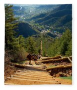 Steep Manitou Incline And Barr Trail Fleece Blanket