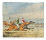 Steeplechasing Fleece Blanket