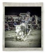 Steer Buck Out _c Fleece Blanket