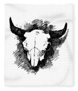 Steer Skull Tee Fleece Blanket