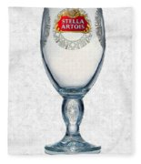 Stella Artois Chalice Painting Collectable Fleece Blanket