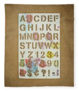 Stencil Alphabet Fun Fleece Blanket