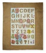 Stencil Alphabet Fun Fleece Blanket