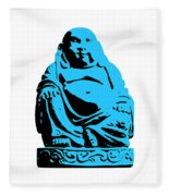 Stencil Buddha Fleece Blanket