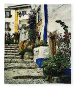 Step Street In Obidos Fleece Blanket