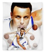 Steph Curry 2017 Profile Fleece Blanket