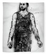 Steph Curry, Golden State Warriors - 18 Fleece Blanket