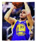 Steph Curry, Golden State Warriors - 19 Fleece Blanket