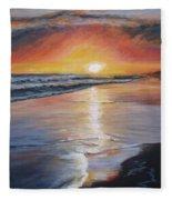 Stephanie's Sunset Fleece Blanket