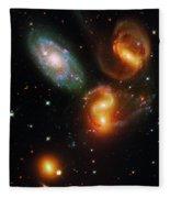 Stephan's Quintet Fleece Blanket