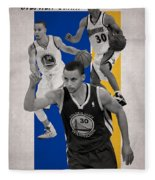 Stephen Curry Golden State Warriors Fleece Blanket
