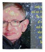 Stephen Hawking Poster Fleece Blanket