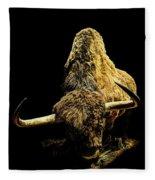 Steppe Bison Fleece Blanket
