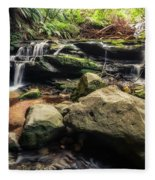 Stepping Cascade - Leura, Blue Mountains, Australia. Fleece Blanket