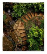 Steps Leading Up The Stairway To Heaven Fleece Blanket