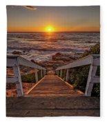 Steps To The Sun  Fleece Blanket