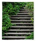 Steps With Ivy Fleece Blanket