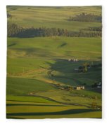 Steptoe Butte 3a Fleece Blanket