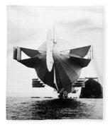 Stern Of Zeppelin Airship - 1908 Fleece Blanket