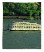 Stern Wheeler On The Columbia River  Fleece Blanket