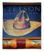 Stetson The Hat Of The West Signage Fleece Blanket