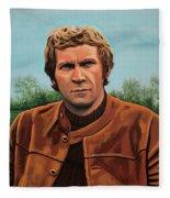 Steve Mcqueen Painting Fleece Blanket