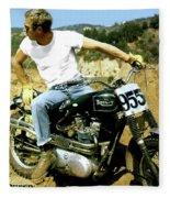 Steve Mcqueen, Triumph Motorcycle, On Any Sunday Fleece Blanket