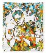 Steve Vai Paint Splatter Fleece Blanket