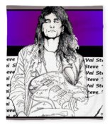 Steve Vai Sitting Fleece Blanket