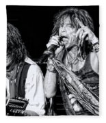 Steven Tyler Croons Fleece Blanket by Traci Cottingham
