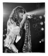 Steven Tyler In Concert Fleece Blanket by Traci Cottingham