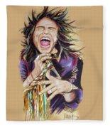 Steven Tyler Fleece Blanket