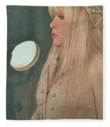 Stevie Nicks In Profile Fleece Blanket