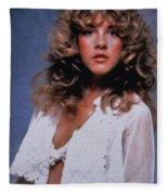 Stevie Nicks In Curls Fleece Blanket