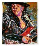 Stevie Ray Red Guitar Fleece Blanket