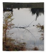 Stick In The Water Fleece Blanket