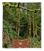 Sticking Out In The Rain Forest Fleece Blanket