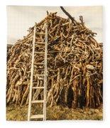 Sticks And Ladders Fleece Blanket