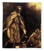 Stigmatisation Of St Francis Fleece Blanket