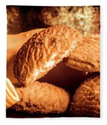 Still Life Bakery Art. Shortbread Cookies Fleece Blanket