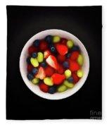 Still Life Of A Bowl Of Fresh Fruit Salad. Fleece Blanket