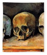 Still Life, Three Skulls Fleece Blanket